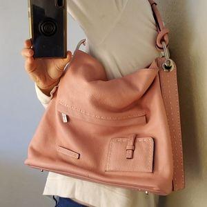BCBG Maxazria pink leather shoulder bag